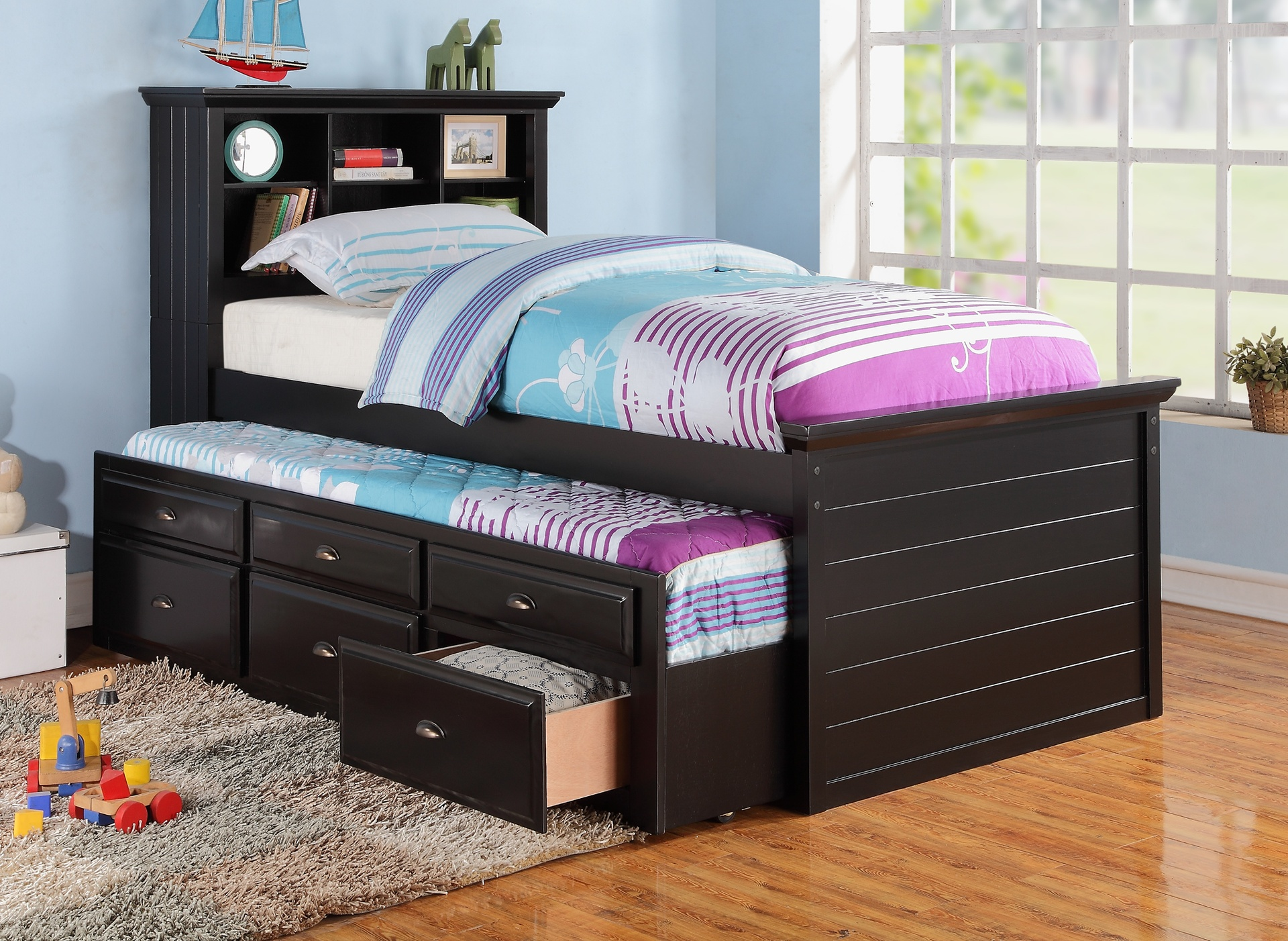 full size bed with storage for kids full size captains bed with storage riverside discount